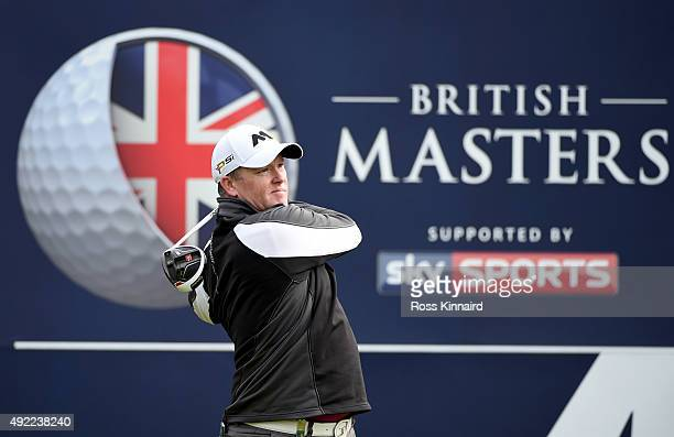 Marcus Fraser of Australia during the final round of the British Masters at Woburn Golf Club on October 11 2015 in Woburn England