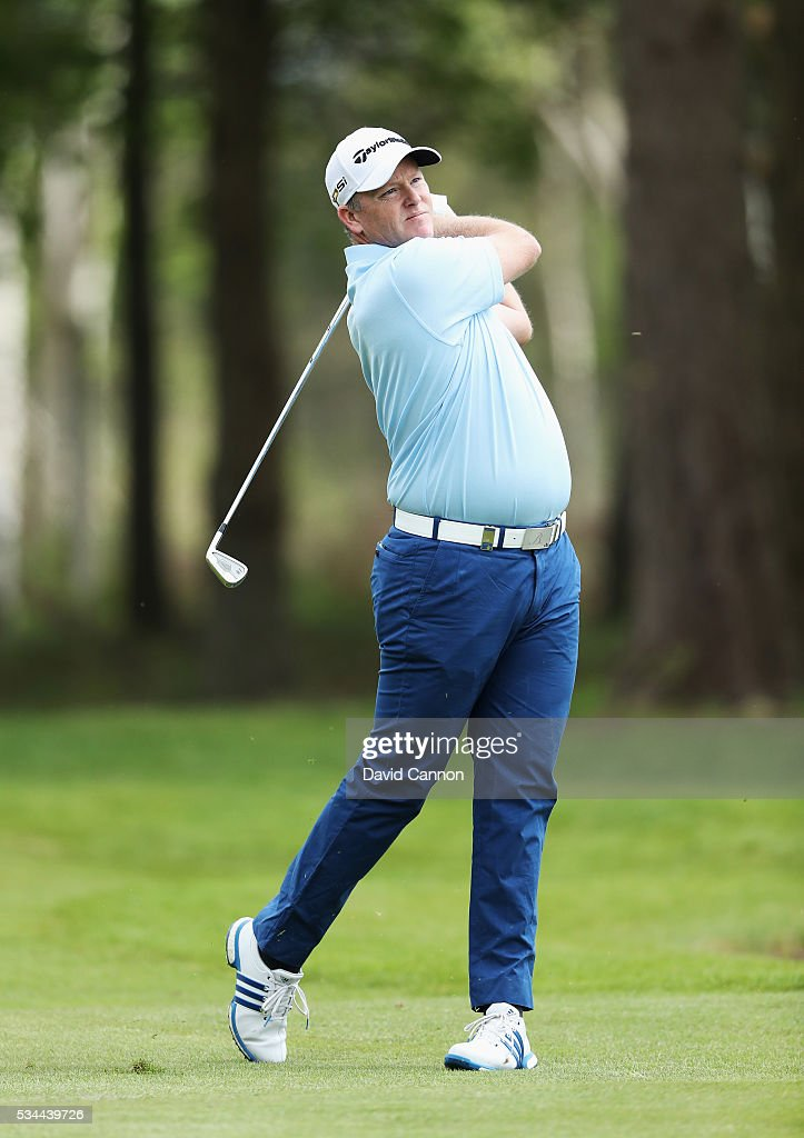 Marcus Fraser of Australia in action during day one of the BMW PGA Championship at Wentworth on May 26, 2016 in Virginia Water, England.