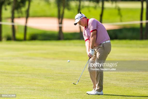 Marcus Fraser of Australia is seen during day two of the Saltire Energy Paul Lawrie Matchplay at Golf Resort Bad Griesbach on August 18 2017 in...