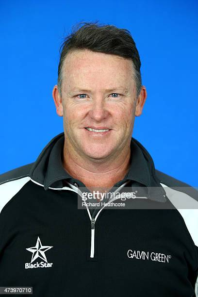 Marcus Fraser of Australia poses for a portrait during a practice day for the BMW PGA Championships at Wentworth on May 19 2015 in Virginia Water...