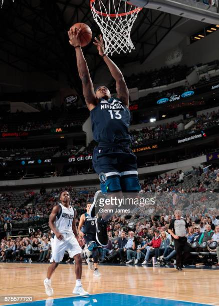 Marcus GeorgesHunt of the Minnesota Timberwolves shoots the ball against the Dallas Mavericks on November 17 2017 at the American Airlines Center in...