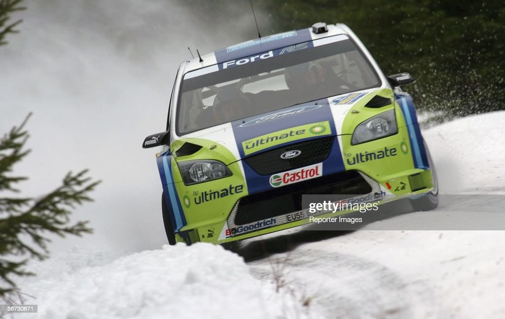 Marcus Gronholm of Finland and Ford in action during the WRC Swedish Rally Shakedown on February 2 2006 in Karlstad Sweden