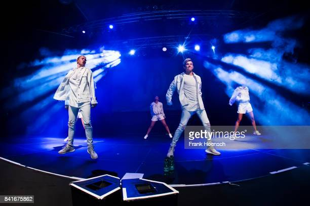 Marcus Gunnarsen and Martinus Gunnarsen of the Norwegian band Marcus Martinus perform live on stage during a concert at the Huxleys on September 1...