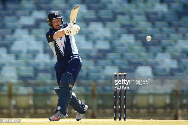 Marcus Harris of the Bushrangers bats during the JLT One Day Cup match between Victoria and Tasmania at WACA on October 4 2017 in Perth Australia