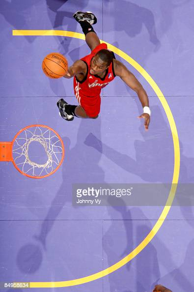 Marcus Hubbard of the Rio Grande Valley Vipers goes up for a layup against the Los Angeles DFenders at Staples Center on February 20 2009 in Los...