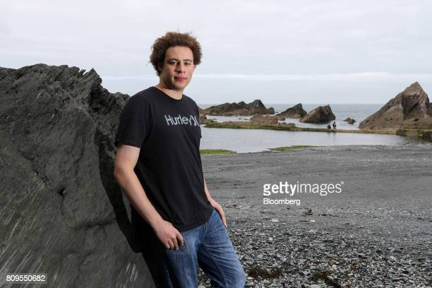 Marcus Hutchins digital security researcher for Kryptos Logic poses for a photograph on Tunnels Beaches in Ilfracombe UK on Tuesday July 4 2017...