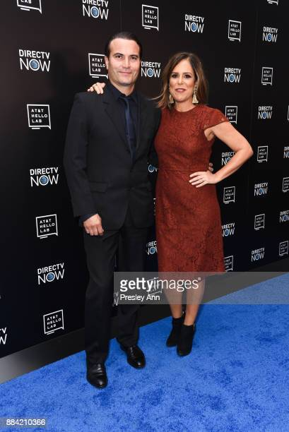 Marcus Jean Pirae and Laura Niemi attend ATT Hello Lab's Mentorship Program Debuts Five Short Films Red Carpet at Hammer Museum on December 1 2017 in...