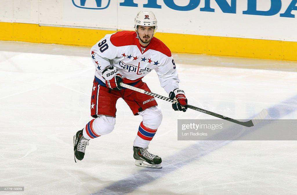 Marcus Johansson #90 of the Washington Capitals skates against the Philadelphia Flyers on March 5, 2014 at the Wells Fargo Center in Philadelphia, Pennsylvania.