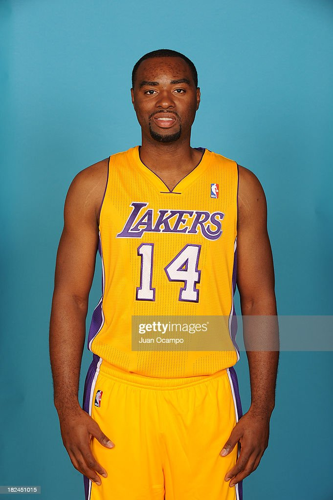 Marcus Landry #14 of the Los Angeles Lakers poses for a head shot during media day at Toyota Sports Center on September 28, 2013 in El Segundo, California.