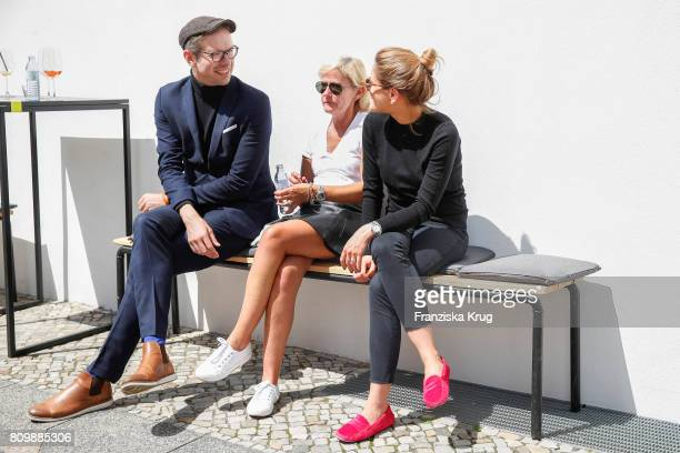 Marcus Lucas Andrea BeckmannOtto Laura Schwarz attend the smart Popup Showroom Presents 'smart | BRABUS Edition Asphaltgold' at the smart Popup...