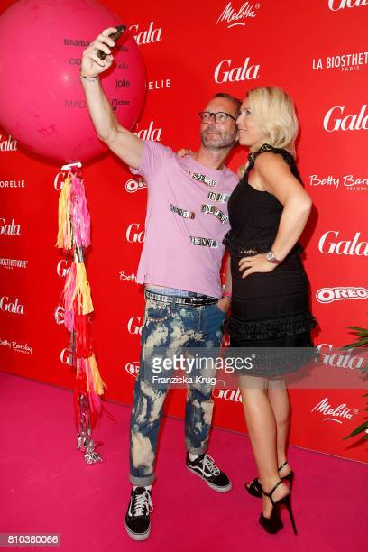 Marcus Luft and Astrid Bleeker attend the Gala Fashion Brunch during the MercedesBenz Fashion Week Berlin Spring/Summer 2018 at Ellington Hotel on...