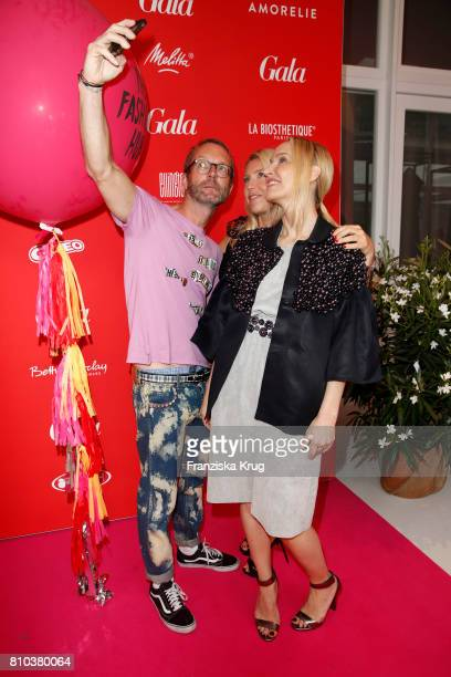 Marcus Luft Astrid Bleeker and Anne MeyerMinnemann attend the Gala Fashion Brunch during the MercedesBenz Fashion Week Berlin Spring/Summer 2018 at...
