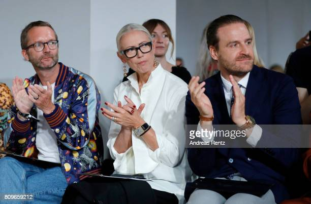 Marcus Luft Christiane Arp and John Cloppenburg watch the fashion talent award 'Designer for Tomorrow' by Peek Cloppenburg and Fashion ID hosted by...