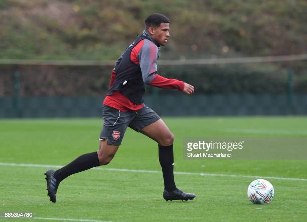 Marcus McGuane of Arsenal during a training session at London Colney on October 23 2017 in St Albans England