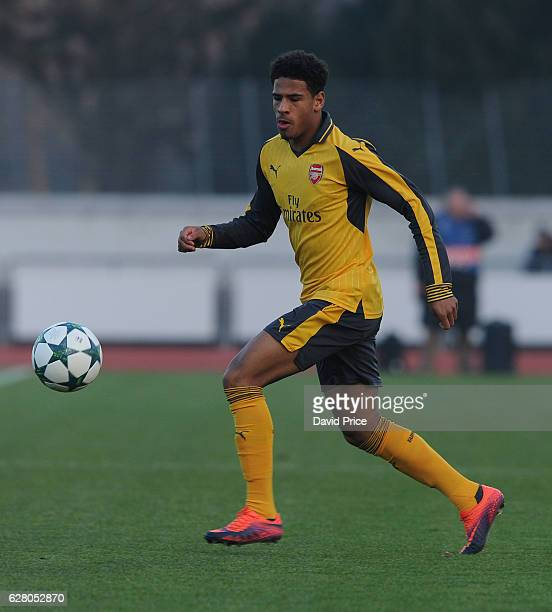Marcus McGuane of Arsenal during the UEFA Champions League match between FC Basel and Arsenal at Leichtathletik Stadion on December 6 2016 in Basel...
