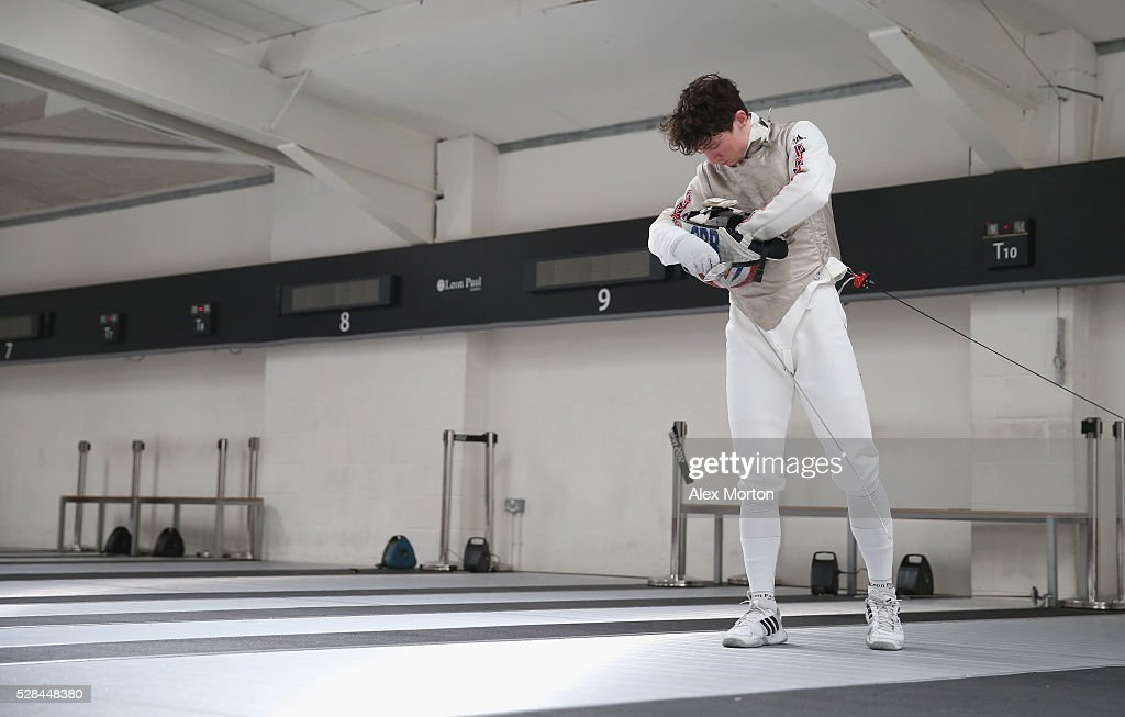 Marcus Mepstead during the announcement of Fencing Athletes Named in Team GB for the Rio 2016 Olympic Games at British Fencing's Elite Training Centre on May 5, 2016 in London, England.