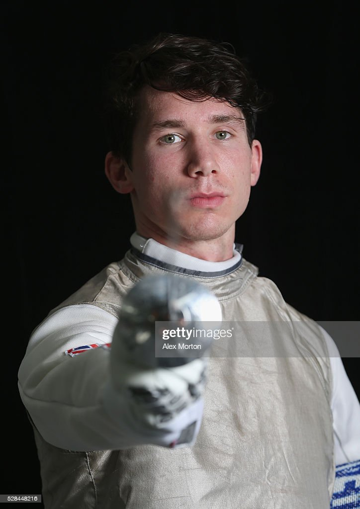 Marcus Mepstead poses for a portrait during the announcement of Fencing Athletes Named in Team GB for the Rio 2016 Olympic Games at British Fencing's Elite Training Centre on May 5, 2016 in London, England.