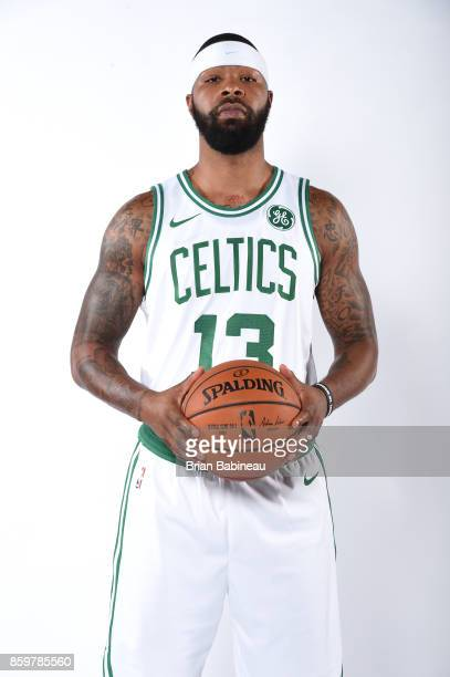 Marcus Morris of the Boston Celtics poses for a portrait during the 201718 NBA Media Day on October 9 2017 at the TD Garden in Boston Massachusetts...