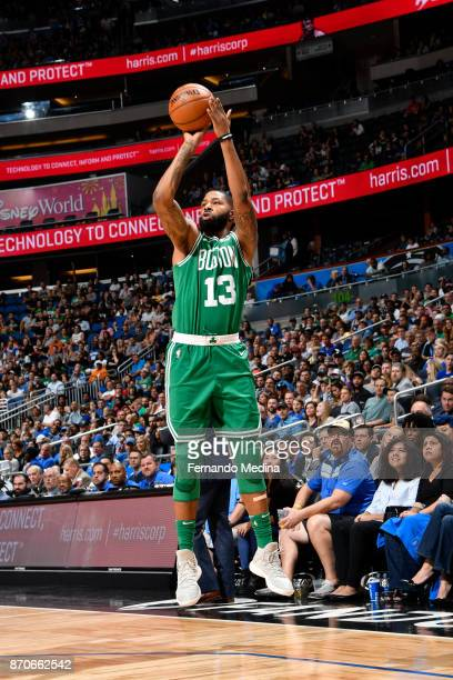 Marcus Morris of the Boston Celtics shoots the ball against the Orlando Magic on November 5 2017 at Amway Center in Orlando Florida NOTE TO USER User...