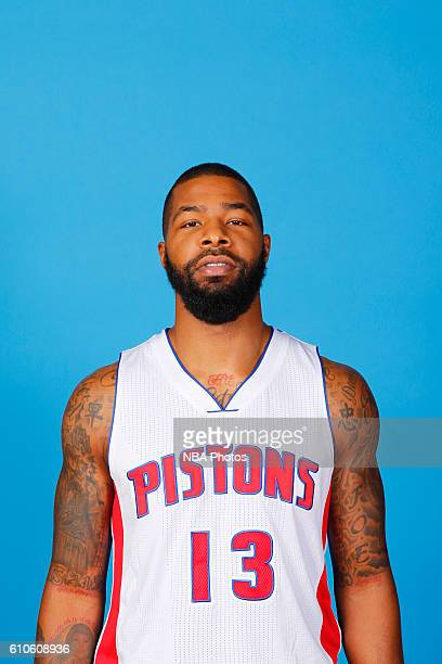 Marcus Morris of the Detroit Pistons poses for a headshot during the 20162017 Detroit Pistons Media Day on September 26 2016 in Auburn Hills Michigan...