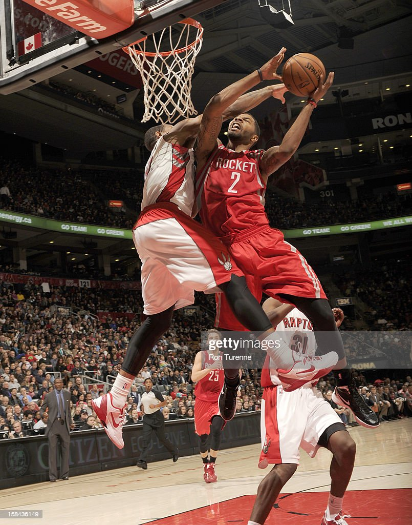 Marcus Morris #2 of the Houston Rockets goes to the basket during the game between the Toronto Raptors and the Houston Rockets December 16, 2012 at the Air Canada Centre in Toronto, Ontario, Canada.