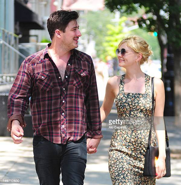 Marcus Mumford and Carey Mulligan are seen in SoHo on August 2 2012 in New York City