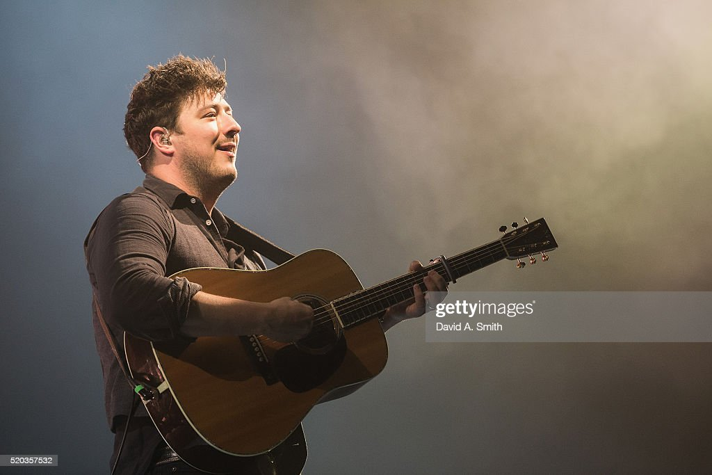 Marcus Mumford of Mumford and Sons performs at BJCC on April 10, 2016 in Birmingham, Alabama.