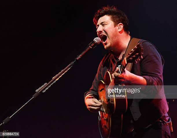 Marcus Mumford of Mumford And Sons performs at Infinite Energy Arena on April 11 2016 in Duluth Georgia
