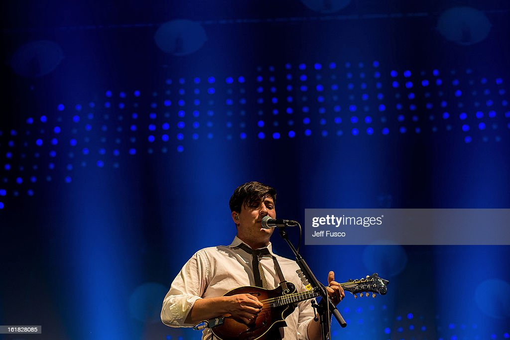 <a gi-track='captionPersonalityLinkClicked' href=/galleries/search?phrase=Marcus+Mumford&family=editorial&specificpeople=5385533 ng-click='$event.stopPropagation()'>Marcus Mumford</a> of Mumford and Sons performs at the Susquehanna Bank Center on February 16, 2013 in Camden, New Jersey.
