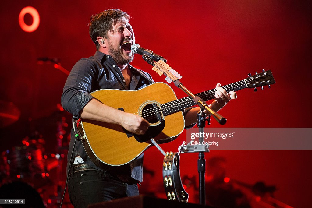 Marcus Mumford of Mumford and Sons performs during the Austin City Limits Music Festival 2016 at Zilker Park on October 9 2016 in Austin Texas