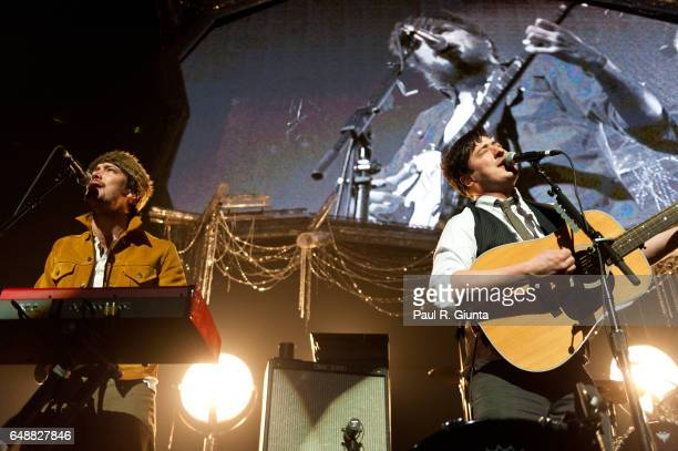 Marcus Mumford of Mumford and Sons performs on stage during KROQ's Almost Acoustic Christmas 2011 at Gibson Amphitheatre on December 11 2011 in Los...