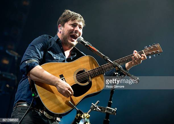 Marcus Mumford of Mumford Sons at The SSE Hydro on December 13 2015 in Glasgow Scotland