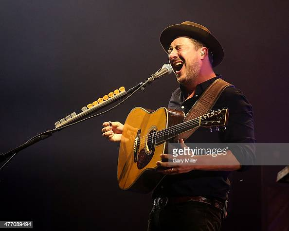 Marcus Mumford of Mumford Sons performs during day 3 of the Bonnaroo Music Arts Festival on June 13 2015 in Manchester Tennessee