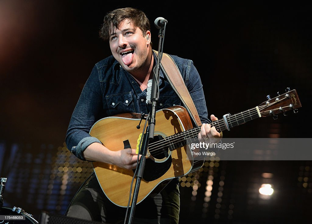 Marcus Mumford of Mumford & Sons performs during Lollapalooza 2013 at Grant Park on August 3, 2013 in Chicago, Illinois.