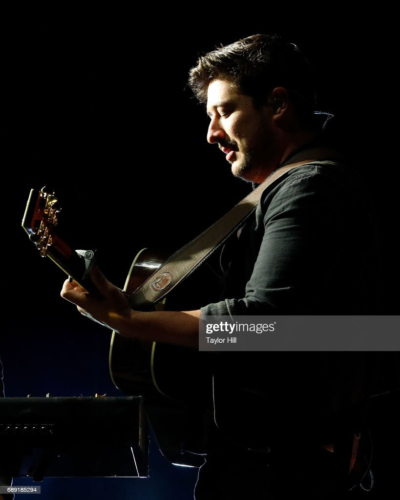 Marcus Mumford of Mumford & Sons performs during the 2017 Boston Calling Music Festival at Harvard Athletic Complex on May 27, 2017 in Boston, Massachusetts.