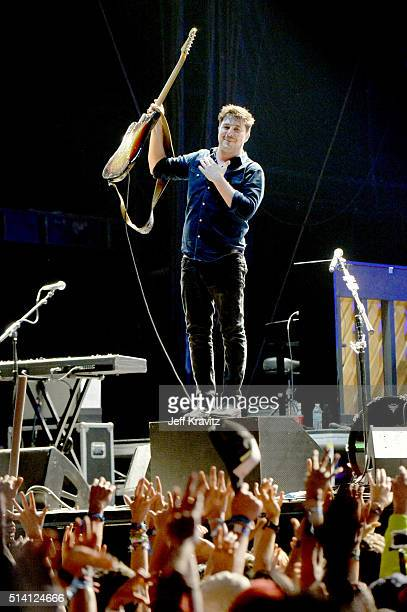 Marcus Mumford of Mumford Sons performs on stage at the Okeechobee Music Arts Festival Day 4 on March 6 2016 in Okeechobee Florida