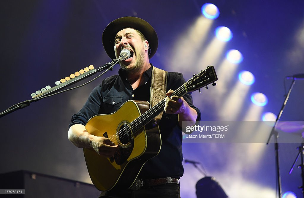 Marcus Mumford of Mumford & Sons, performs on the 'Which' stage during the 2015 Bonnaroo Music & Arts Festival on June 13, 2015 in Manchester, Tennessee.