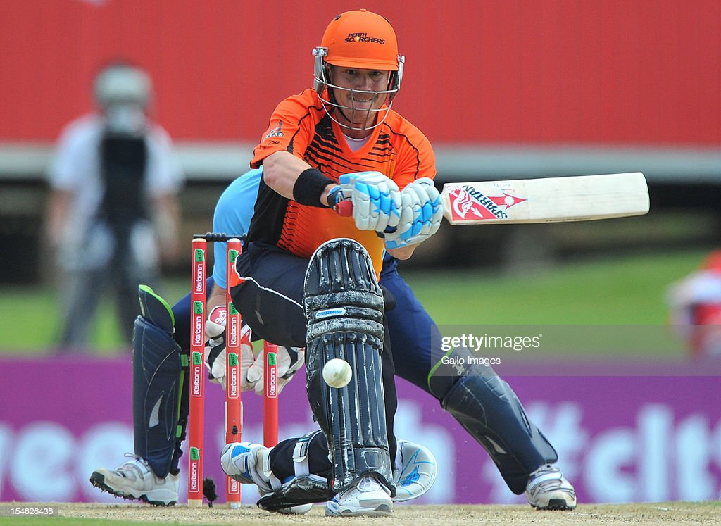 <a gi-track='captionPersonalityLinkClicked' href=/galleries/search?phrase=Marcus+North&family=editorial&specificpeople=167183 ng-click='$event.stopPropagation()'>Marcus North</a> of Perth bats during the Karbonn Smart CLT20 match between Auckland Aces and Perth Scorchers at SuperSport Park on October 23, 2012 in Pretoria, South Africa.