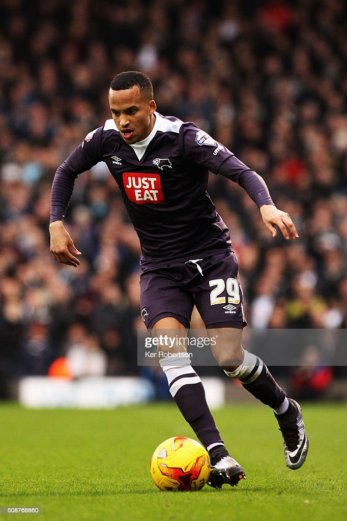 Marcus Olsson of Derby County runs with the ball during the Sky Bet Championship match between Fulham and Derby County at Craven Cottage on February 6, 2016 in London, England.