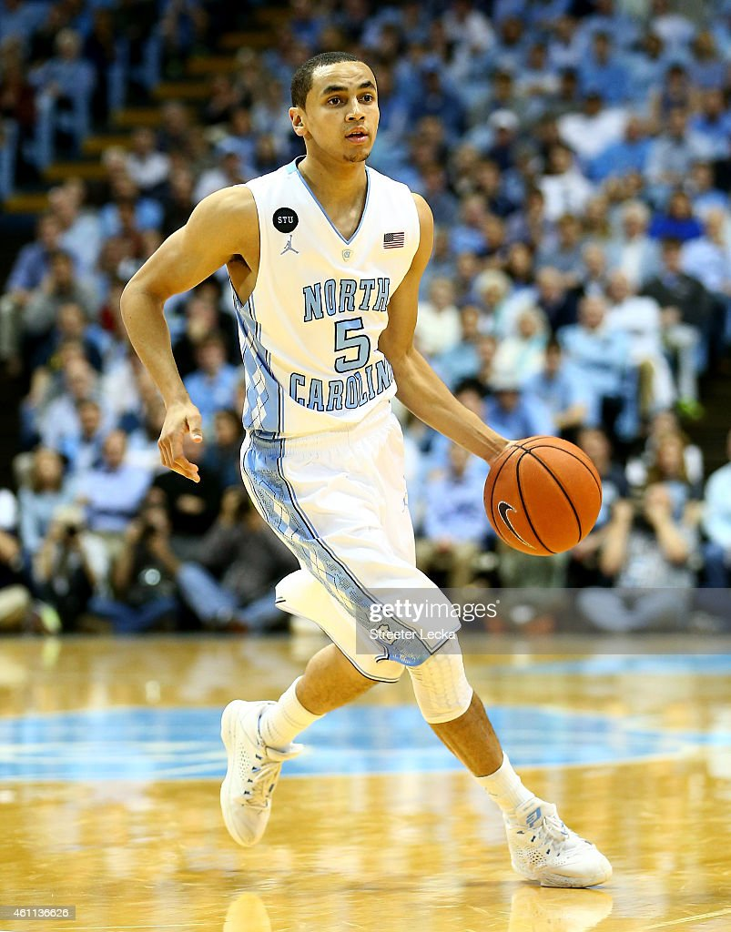 Marcus Paige of the North Carolina Tar Heels during their game at Dean Smith Center on January 5 2015 in Chapel Hill North Carolina