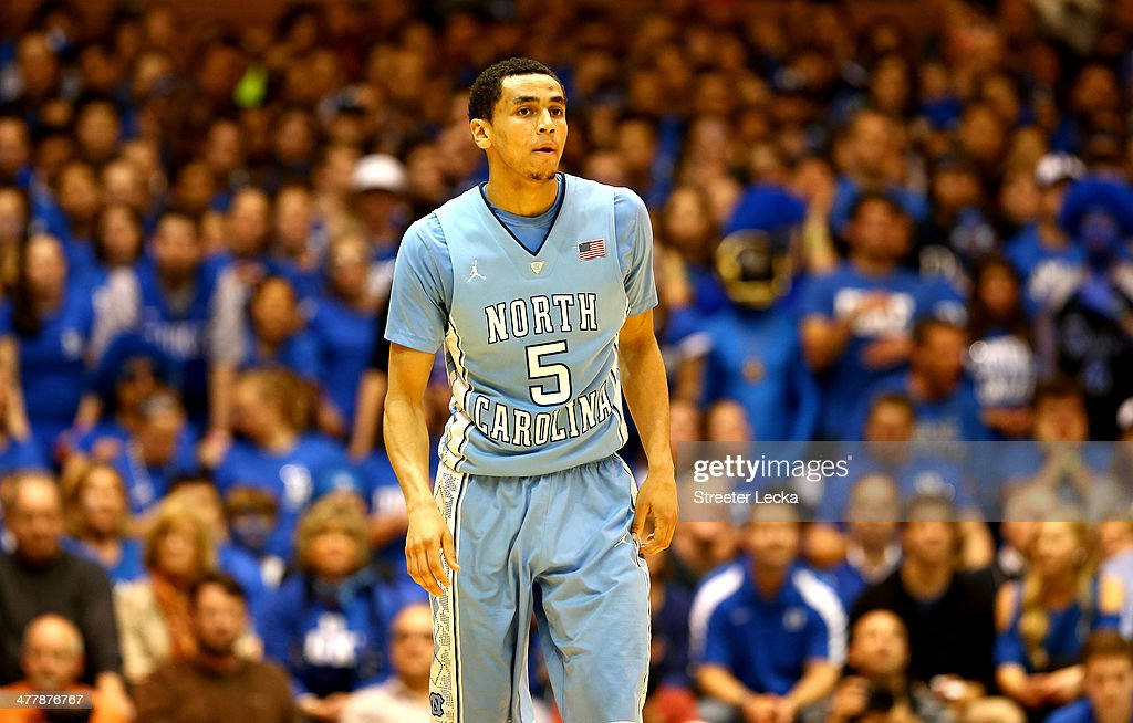 Marcus Paige of the North Carolina Tar Heels during their game at Cameron Indoor Stadium on March 8 2014 in Durham North Carolina