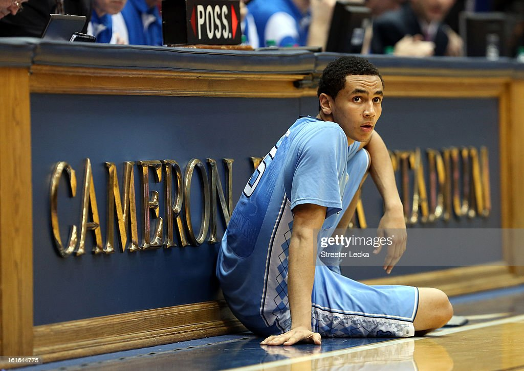 Marcus Paige #5 of the North Carolina Tar Heels waits to go in the game against the Duke Blue Devils at Cameron Indoor Stadium on February 13, 2013 in Durham, North Carolina.