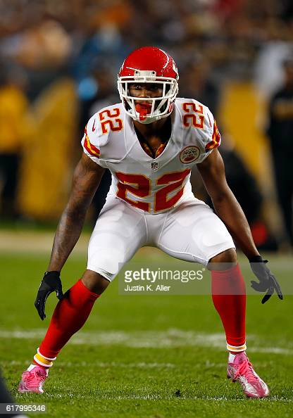 Marcus Peters of the Kansas City Chiefs in action during the game against the Pittsburgh Steelers at Heinz Field on October 2 2016 in Pittsburgh...