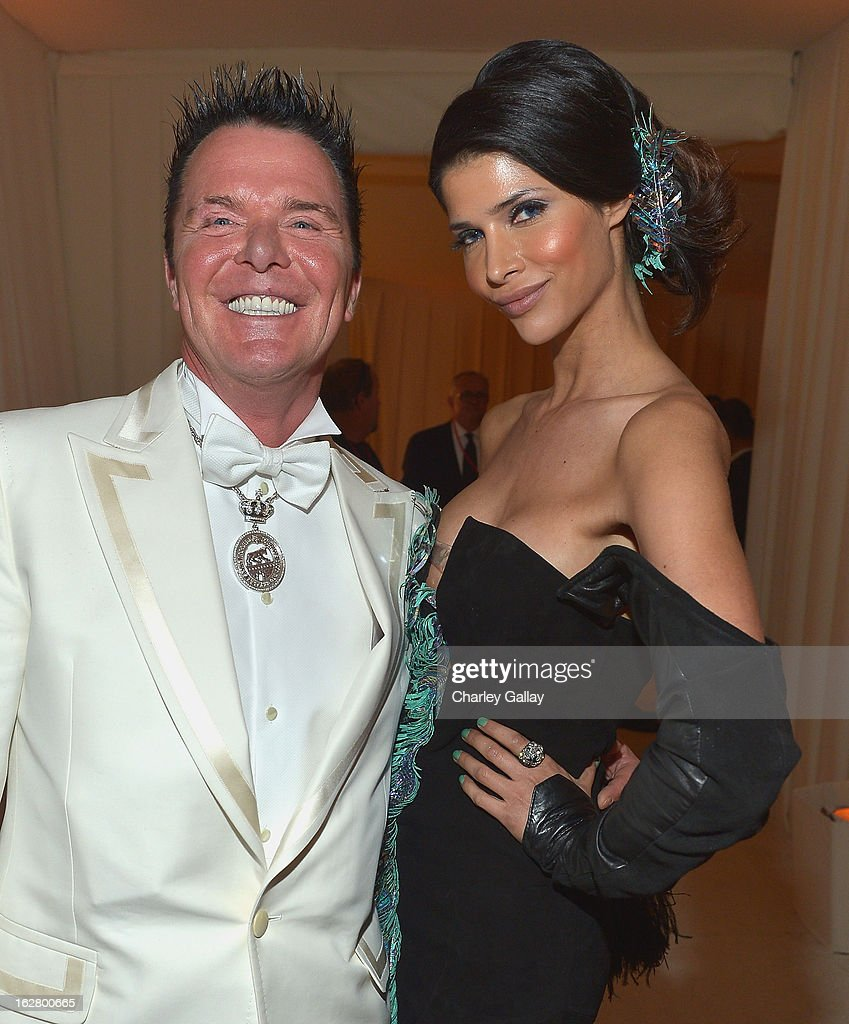 Marcus Prinz von Anhalt and model Micaela Schaefer attend Neuro at 21st Annual Elton John AIDS Foundation Academy Awards Viewing Party at West Hollywood Park on February 24, 2013 in West Hollywood, California.