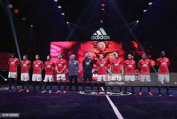Marcus Rashford Jesse Lingard Henrikh Mkhitaryan Juan Mata Luke Shaw Manager Jose Mourinho David de Gea Wayne Rooney Daley Blind Memphis Depay Ashley...