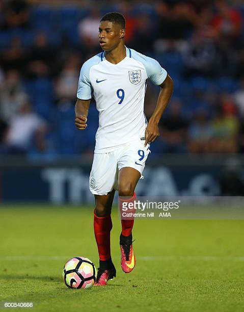 Marcus Rashford of England U21 during the UEFA European U21 Championship Qualifier Group 9 match between England U21 and Norway U21 at Colchester...