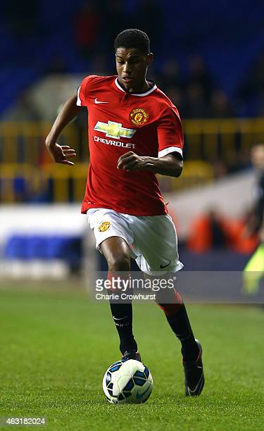 Marcus Rashford of Man United during the FA Youth Cup Fifth Round match between Tottenham Hotspur and Manchester United at White Hart Lane on...