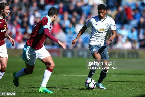 Marcus Rashford of Manchester United during the Premier League match between Burnley and Manchester United at Turf Moor on April 23 2017 in Burnley...