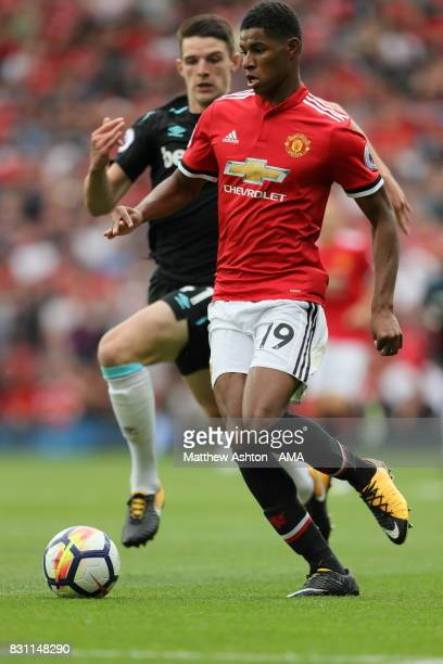 Marcus Rashford of Manchester United during the Premier League match between Manchester United and West Ham United at Old Trafford on August 13 2017...