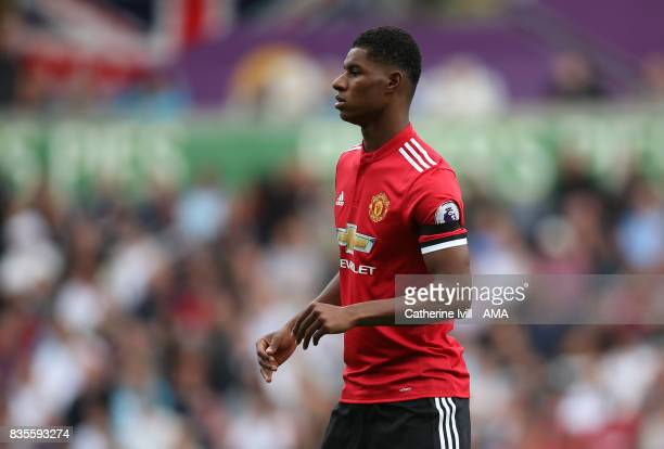 Marcus Rashford of Manchester United during the Premier League match between Swansea City and Manchester United at Liberty Stadium on August 19 2017...